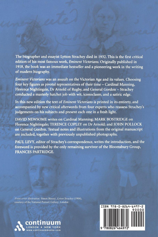 Eminent Victorians: The Definitive Edition: Lytton Strachey: 9780826464972:  Amazon.com: Books