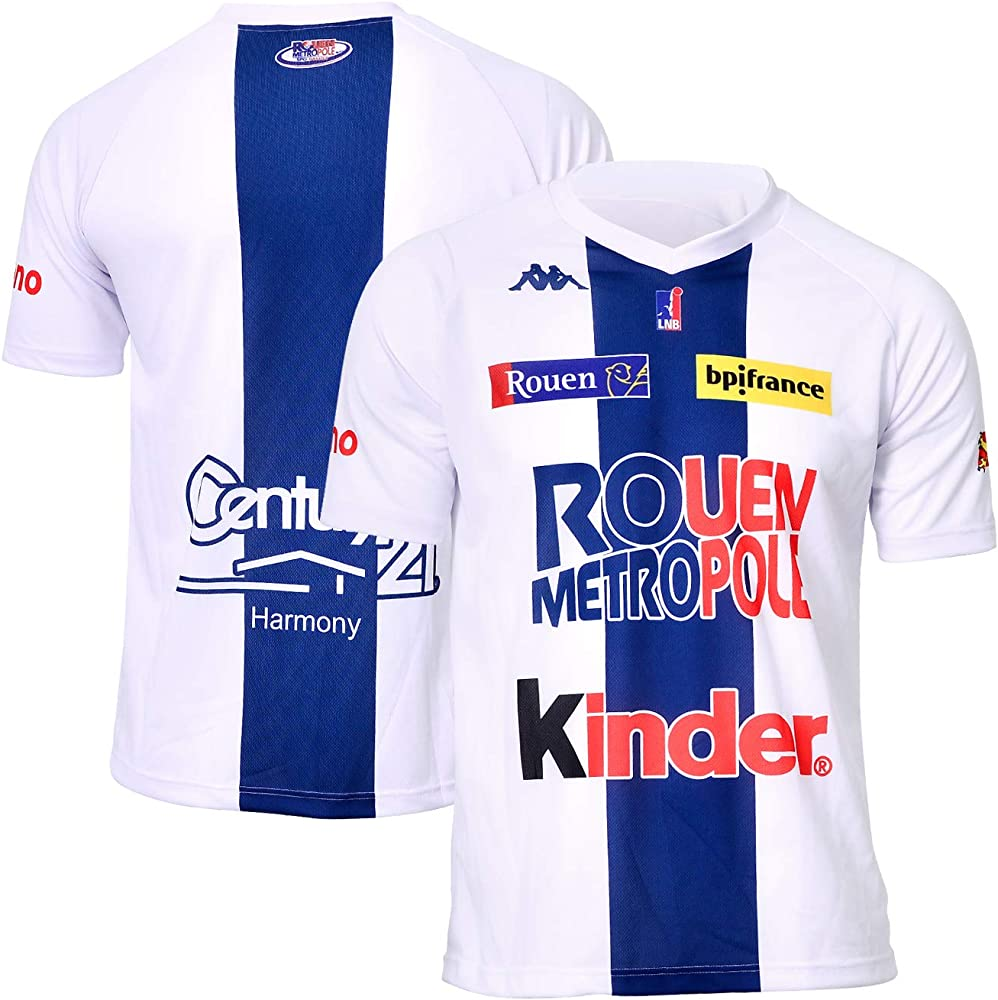Rouen Metropole - Camiseta Oficial de Baloncesto 2018-2019, Unisex Adulto, Color Blanco, tamaño Small: Amazon.es: Ropa y accesorios