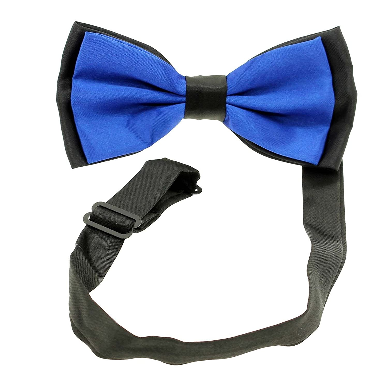 Blue HuntGold 1X Classic Adjustable Men Butterfly Cravat Bowtie Neckwear Bow Tie