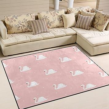 CPYang Schwan Rosa Hintergrund Rechteck Bereich Teppiche Foto Custom ...