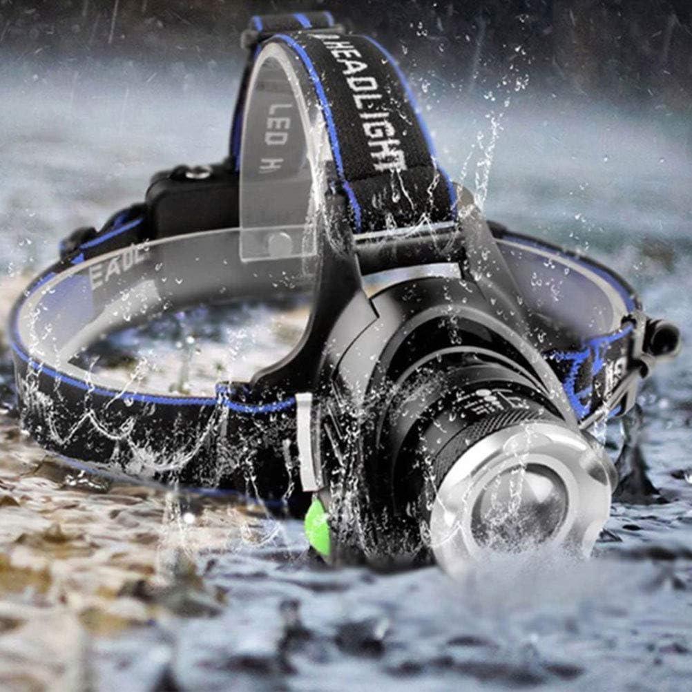Egosy Stirnlampe Kopflampe Kopfleuchte Wasserdicht Superheller mit Warnleuchte