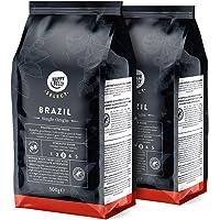 Marca Amazon - Happy Belly Select Café de Brazil en Grano - 1Kg (2 Paquetes x 500g)