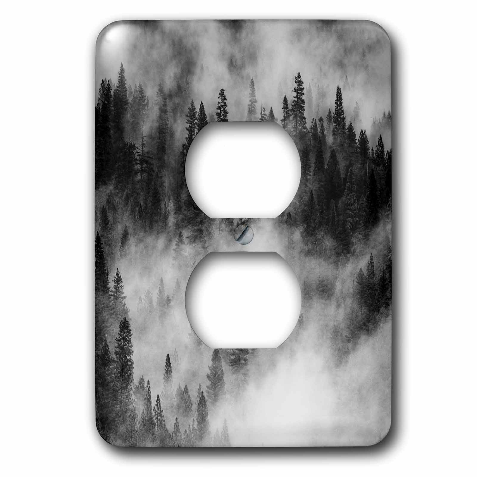 3dRose Danita Delimont - Trees - Usa, California. Yosemite NP. Pine forests with swirling mist - Light Switch Covers - 2 plug outlet cover (lsp_258928_6)