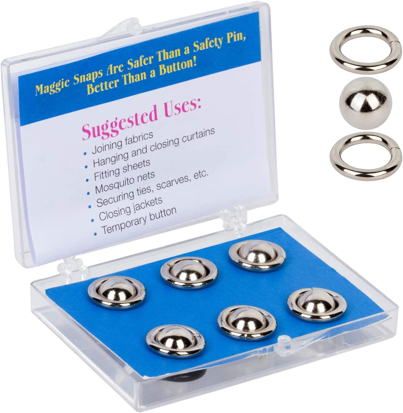 Magnets are NOT Included. Maggie Rings for Maggie Snaps are Optional Colored Rings to Coordinate with Fabrics