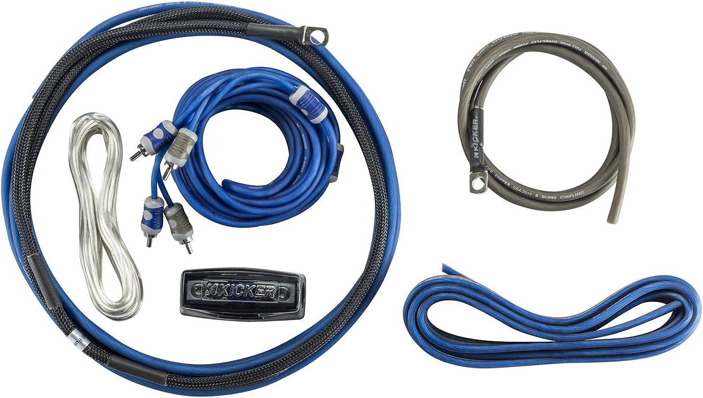 Kicker 46CK8 Car Audio 8 Gauge 2 Channel - Mono Amp Amplifier Install Kit CK8