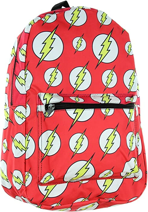 0ae3e9216c DC Comics The Flash Symbol Logo All-over Print Sublimated Backpack