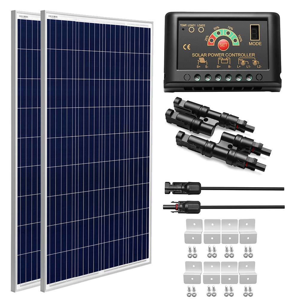 SUNGOLDPOWER 200 Watt 12V Polycrystalline Solar Panel Solar Module