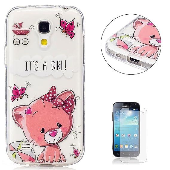 efcbe4818da KaseHom Compatible For Funda Samsung Galaxy S4 Mini i9190 Prima  Transparente Cáscara Cristal Claro Slicona Choque Absorción Protección Caja  Suave Flexible ...