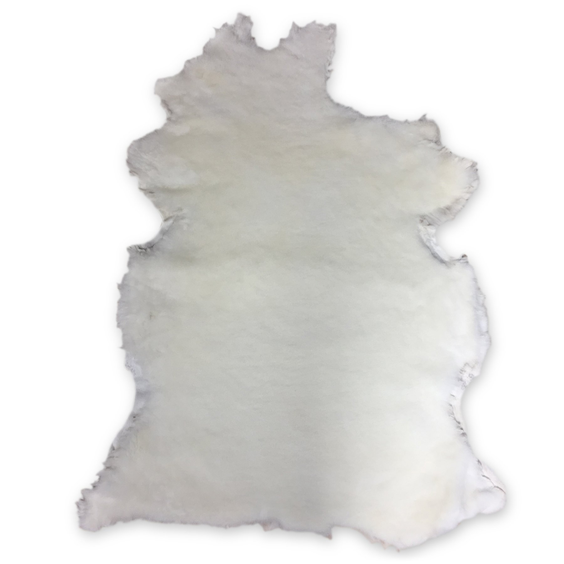 Natural White Shearling Leather Sheepskin Hides Fur Skin Hair On AVG 8.75 Sqft (12mm)