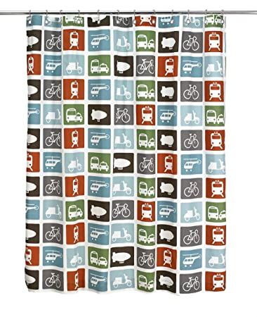 Image Unavailable Not Available For Color DwellStudio Baby Transportation Shower Curtain