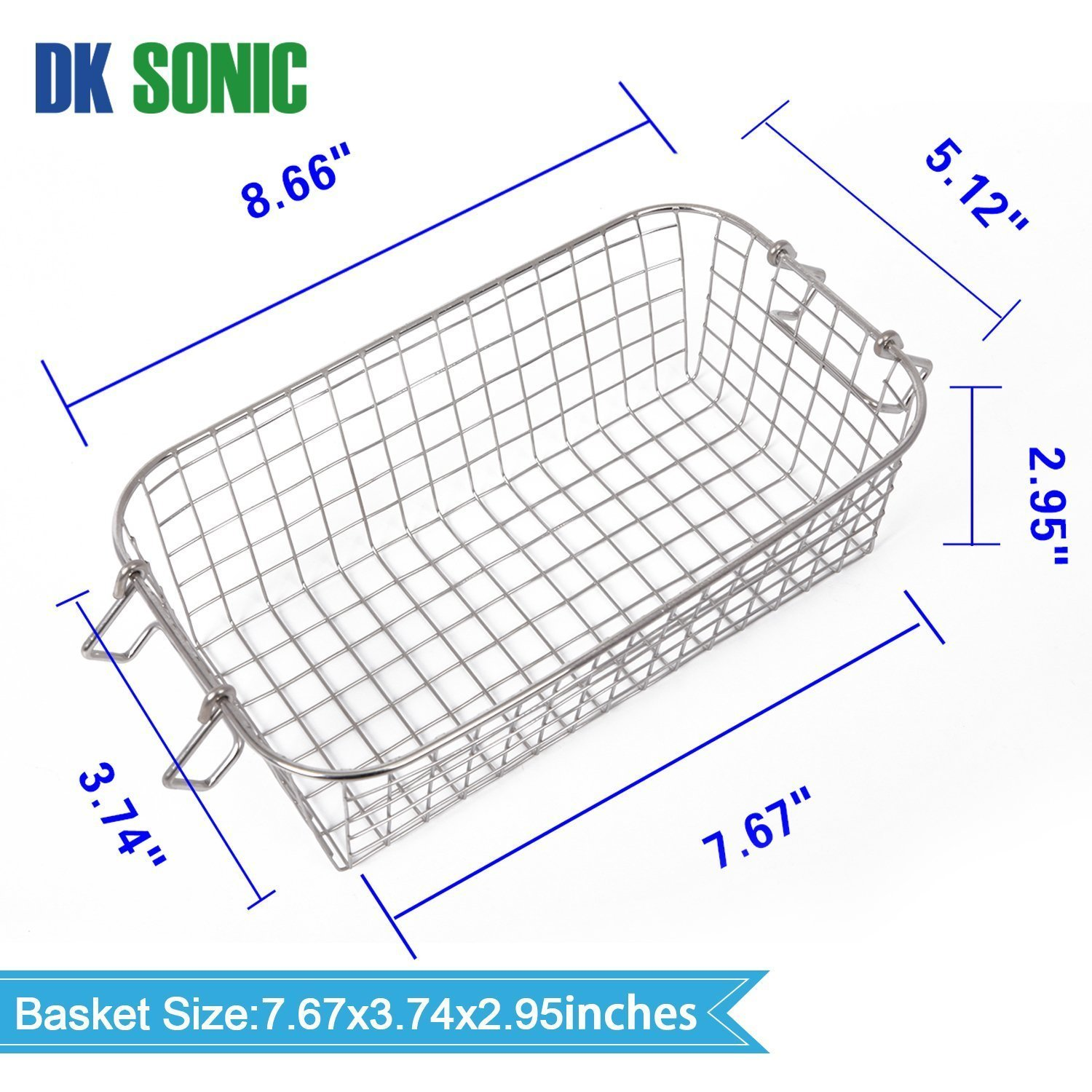 Commercial Ultrasonic Gun Cleaner Heated - DK SONIC 3L 120W Ultrasonic Jewelry Cleaner with Heater Basket for Parts Denture Carburetor Eyeglass Fuel Injector Record Circuit Board Dental 40KHz by DK SONIC (Image #8)
