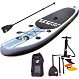 "Goplus 10' Inflatable Cruiser Stand Up Paddle Board iSUP Package w/ 3 Fins Adjustable Paddle Pump Kit Carry Backpack, 6"" Thick"