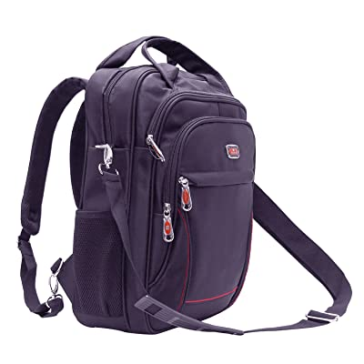 Apacs Briefcase Backpack, 15.6 Inch Multi-function Business Messenger Convertible Backpack Shoulder Laptop School Bookbag. (Gray)