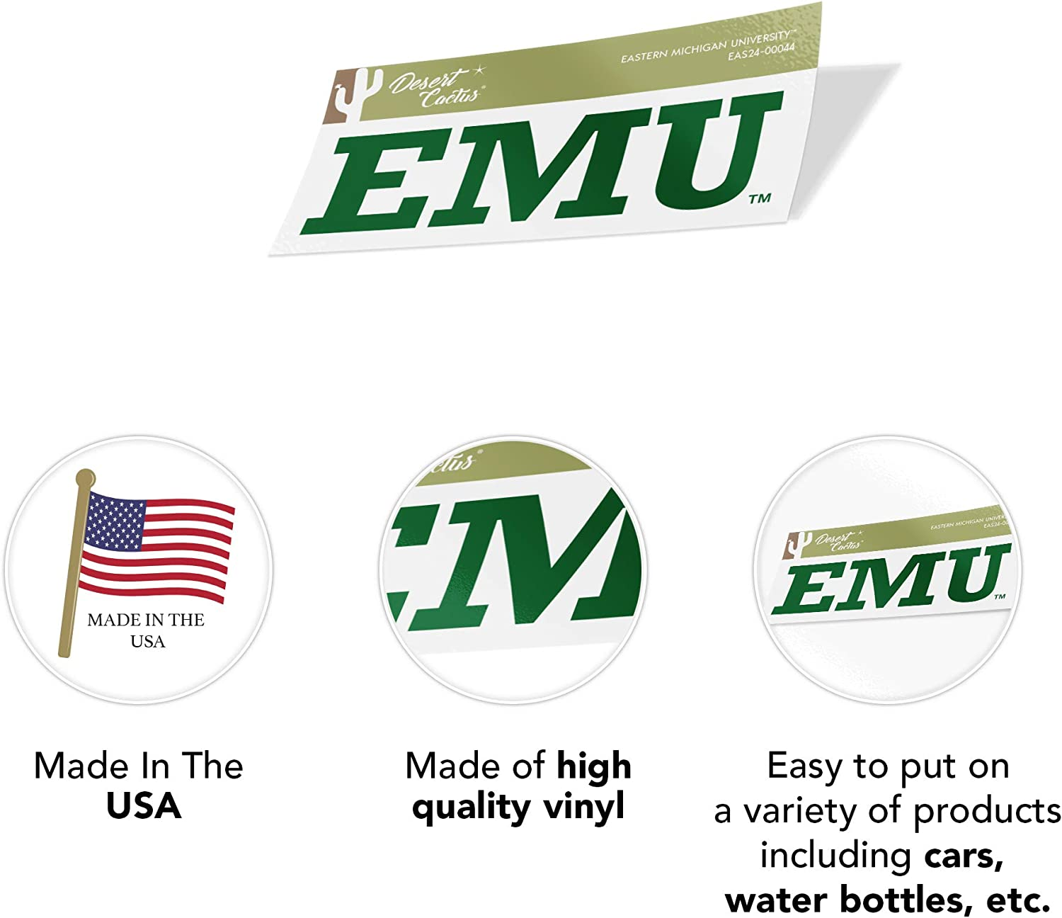 70s Name Sticker Eastern Michigan University EMU Eagles NCAA Vinyl Decal Laptop Water Bottle Car Scrapbook