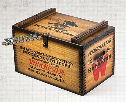 amazon com winchester wooden ammo box home kitchen