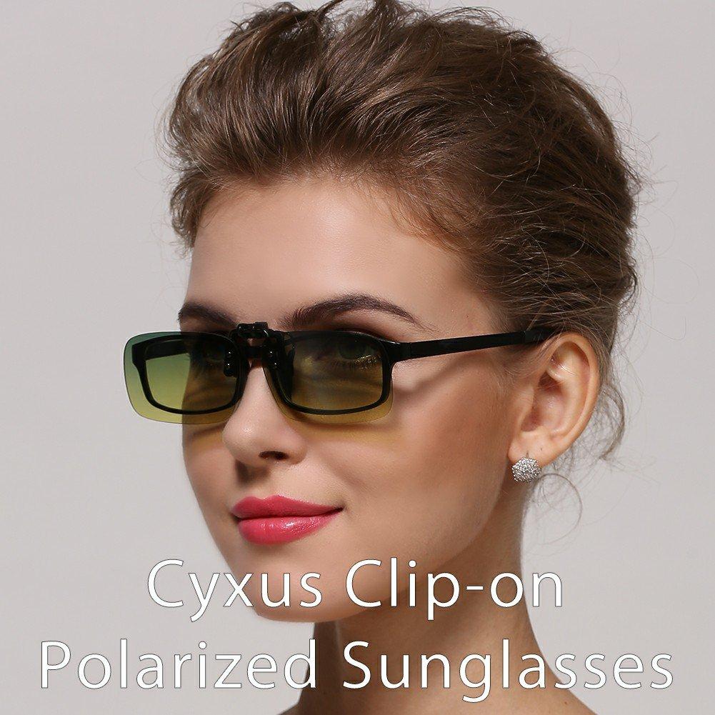 Cyxus polarisées classique Verres miroir Lunettes de soleil à clipser  Lunettes   anti-reflet 9670d3017277