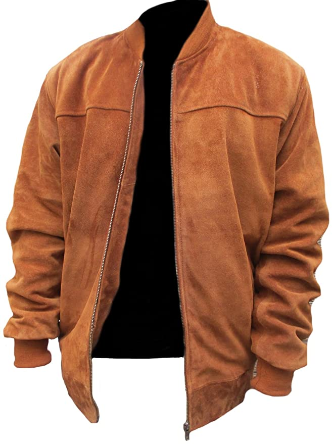 Classyak Mens Fashion Slimfit Suede Real Leather Bomber Jacket