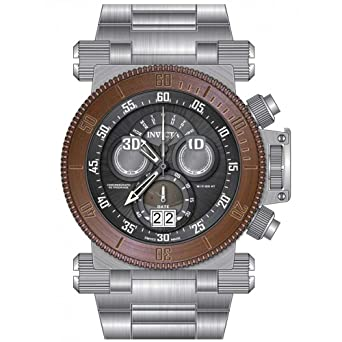 b25569b58 Invicta Coalition Forces Chronograph Black Dial Stainless Steel Mens Watch  17645