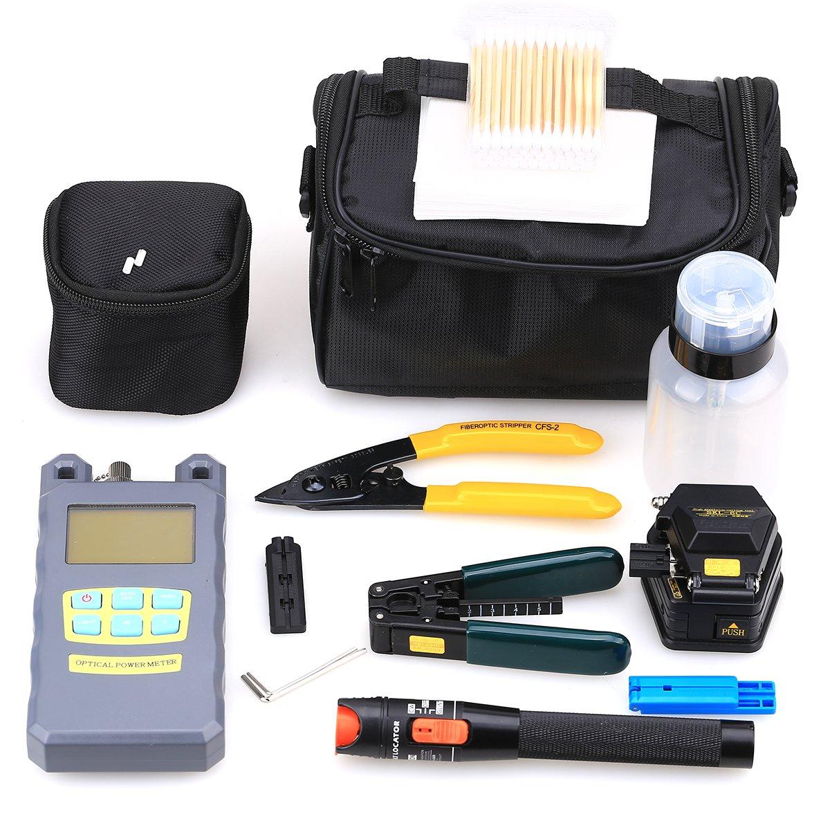 Fiber Optic FTTH Tool Optical Power Meter SKL-6C Fiber Cleaver 10Mw Visua Kits