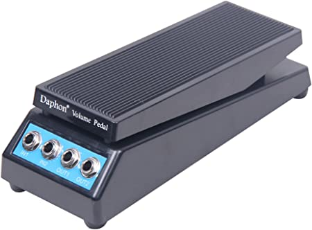 Signstek Pedal de volumen de guitarra estéreo de sonido DJ Band Pedal de efecto de guitarra para baja impedancia con amplitud ajustable perilla ...