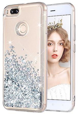 wlooo Funda para Xiaomi Mi A1/Xiaomi Mi 5X, Fundas Xiaomi Mi A1/5X, Glitter liquida Gradiente Cristal Silicona Bling Protector TPU Bumper Case ...