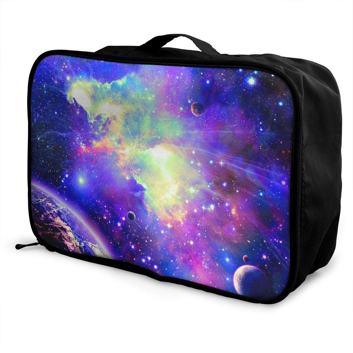 Portable Luggage Duffel Bag Galaxy Travel Bags Carry-on In Trolley Handle