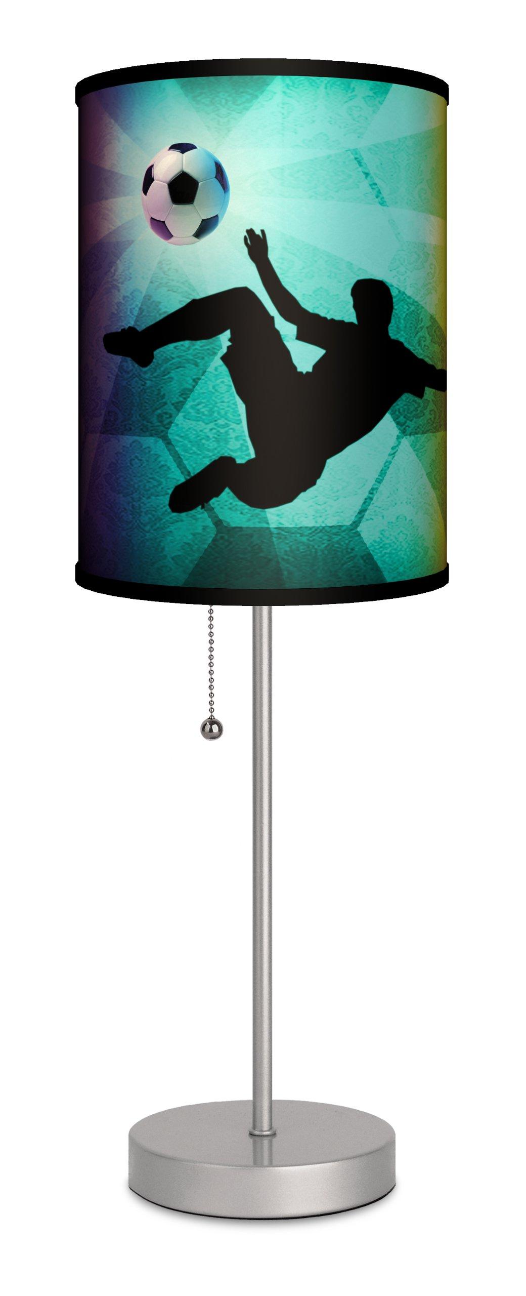 Sports - Soccer Kick Sport Silver Lamp