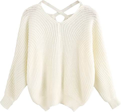 Ladies Cross Back Chunky Cable Knitted Jumper Dress Long Sleeve Mini Top Sweater