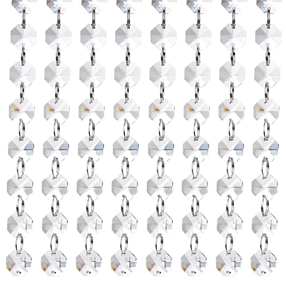 Valar Dohaeris 18 feet Clear Crystal Chandelier Gems Bead Strands Lamp Chain for Wedding Party Tree Garlands Decoration 4337027825