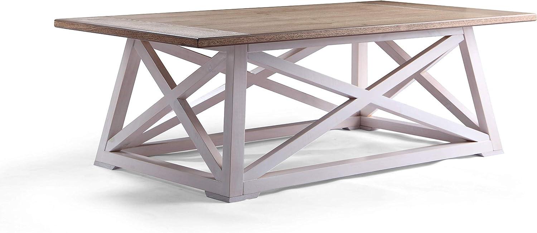 - Amazon.com: Posh Pollen Finley Two Tone Coastal Style Coffee Table