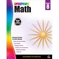 Spectrum Grade 8 Math Workbook – Pythagorean Theorem, Rational Irrational Numbers, Geometry With Practice, Tests, Answer…