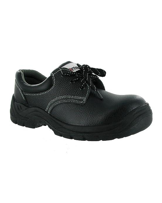 Centek Mens FS337 Leather S1 Work Safety Shoe Black 6yg6qx9Mu