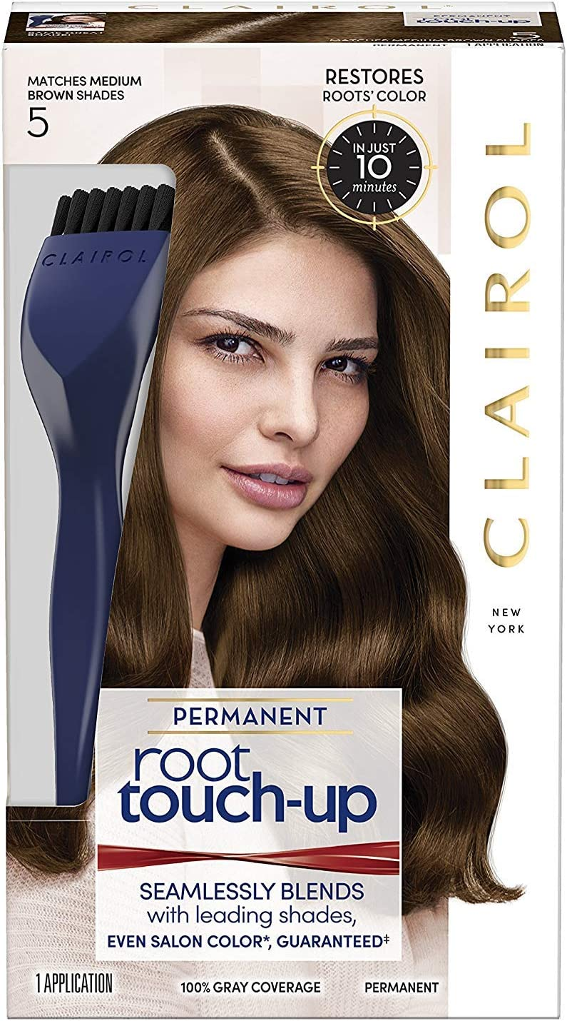 Nice 'n Easy Root Touch-Up Permanent Color, Medium Brown 1 each by Clairol by Clairol