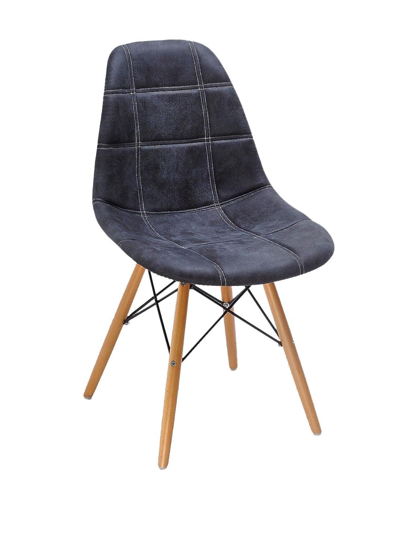 SuperStudio lo+demoda Wooden Lines Silla, Tela, Gris Oscuro ...