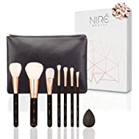 Niré Beauty Ultra Soft Essential: Top Quality Makeup Brushes + Beauty Blender & Makeup Brush Travel Pouch