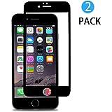 [2 Pezzi] Pellicola Protettiva iPhone 7 Hi-Luck 0.33mm Premium 3D Touch Full Copertura Curvato Bordi Vetro Temperato per iPhone 7 Protezioni Schermo Nero 4.7 pollicie [9H, PET, Bordi per Bordi]