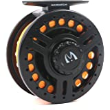 Maxcatch Explorer 5/6,7/8wt Fly Reel Pre-loaded with Fly Line, Backing, Leader (Lightweight Polymeric body and spool )