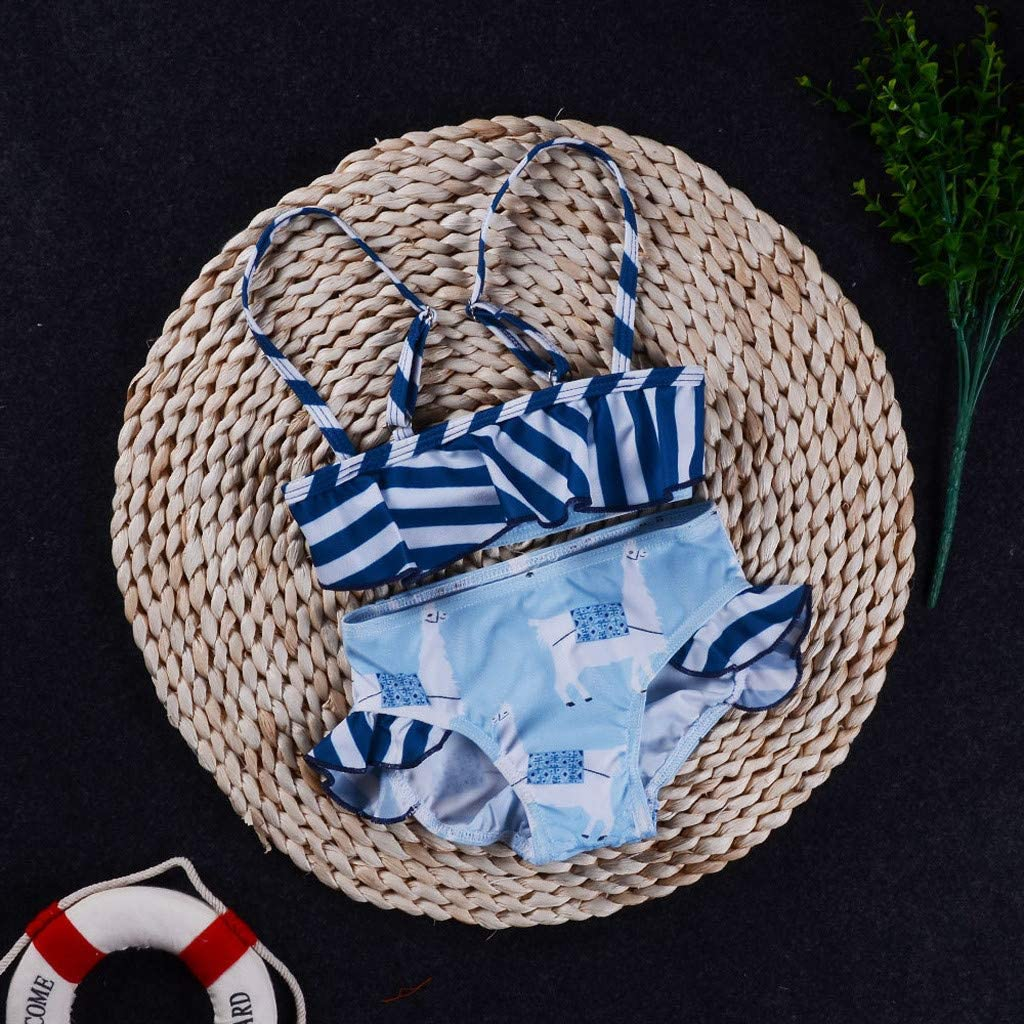 MOMKER Infant Newborn Kids Baby Striped Bikini Swimwear Swimsuit Bathing Suit