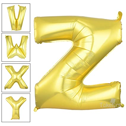 takefuns gold letter balloons 40 inch large mylar foil helium balloons jumbo alphabet balloons letter for