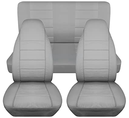 How To Make Car Seat Covers >> Amazon Com Solid Car Seat Covers Silver Semi Custom Fit Full