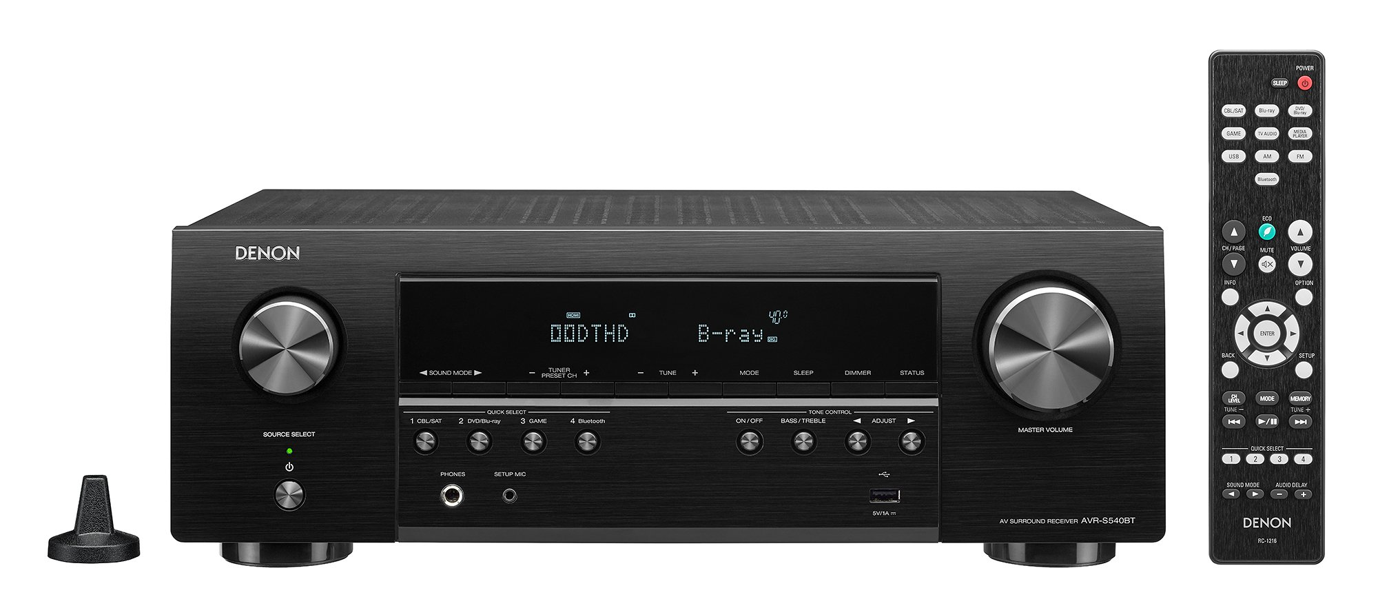Denon AVR-S540BT Receiver, 5.2 channel, 4K Ultra HD Audio and Video, Home Theater System, built-in Bluetooth and USB port, Compatible with HEOS Link for Wireless Music Streaming by Denon (Image #4)
