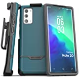 Encased Galaxy Note 20 Belt Clip Protective Holster Case (2020 Rebel Armor) Heavy Duty Rugged Full Body Cover with…