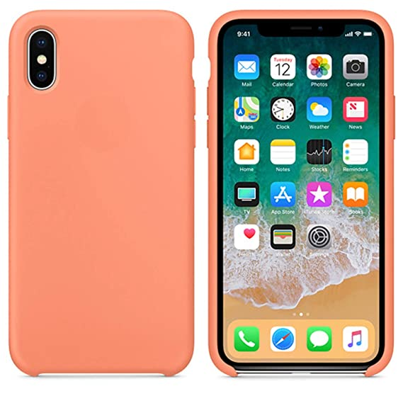 buy popular 972b7 f7b42 Amazon.com: Silicone Case for Iphonex Xs Max Xr Case for Apple Cover ...