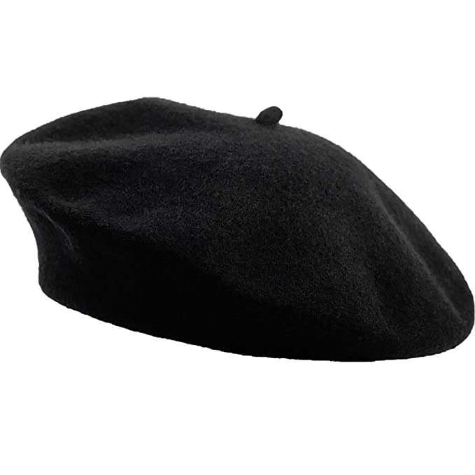 Sterkowski Women s Classic Soft Wool Beret Universal Black at Amazon Men s  Clothing store  2868803240d