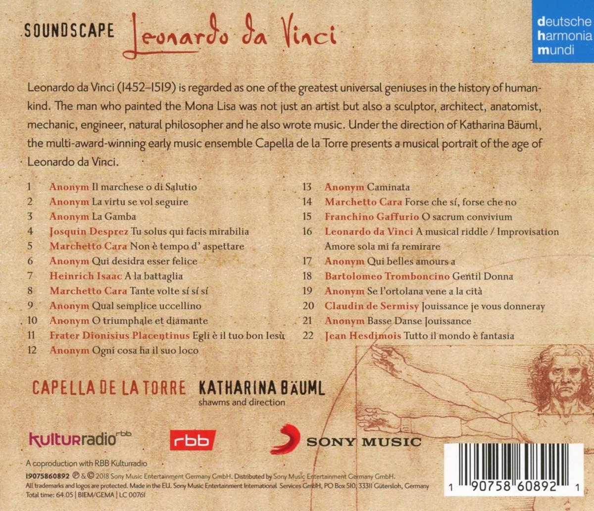 Soundscape Leonardo Da Vinci Capella De La Torre Katharina Bäuml