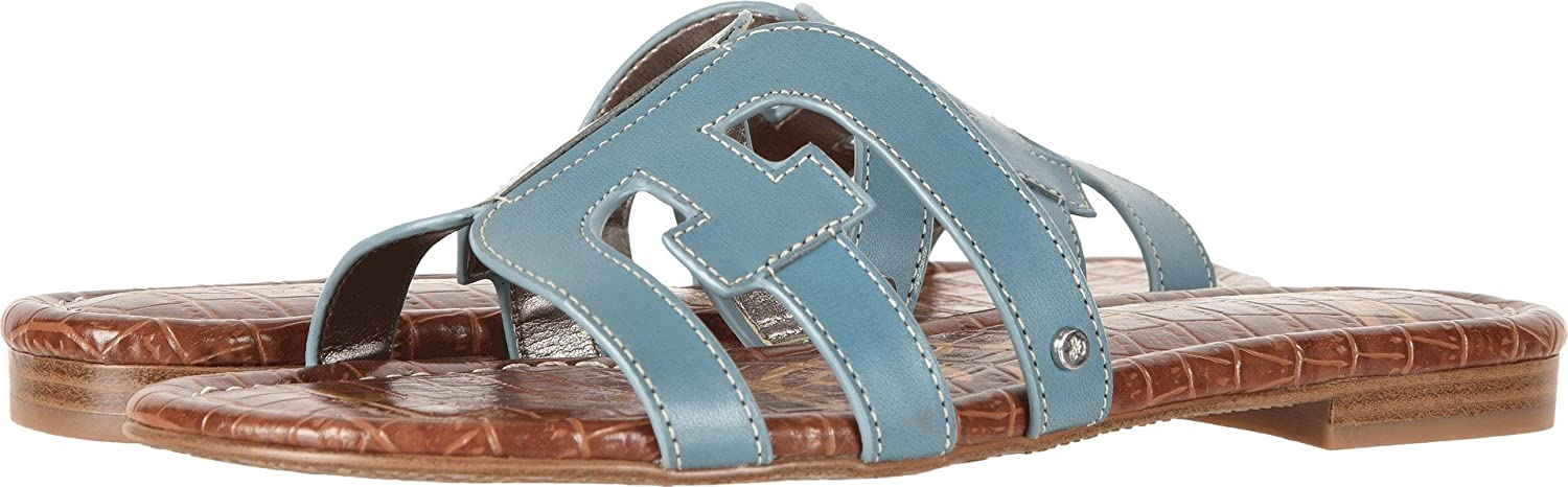 Sam Edelman Women's Bay Slide Sandal B0762TLVBN 9.5 W US|Denim Blue/New Blue Vaquero Saddle Leather