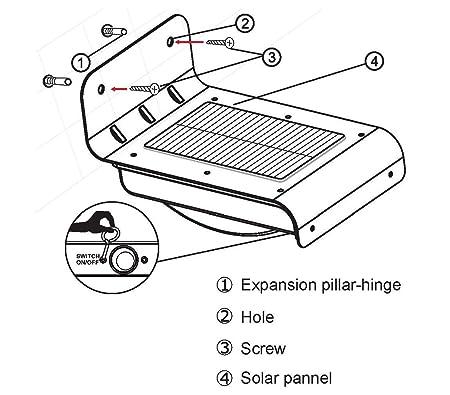 Amazon Com Uniquexceptional U 10p Wireless 16 Led Solar Powered
