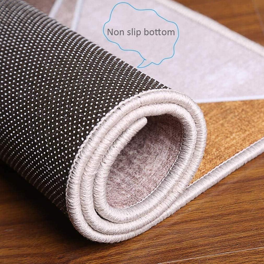 Alfombras de Pasillo largas Dise/ño Geom/étrico Alfombra de Pasillo de Textil para Pasillo Cocina Sala de Estar Dormitorio AEREY Alfombras de Pasillo 50x420cm R-2