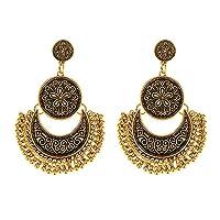 Shining Diva Fashion Oxidised Silver Gold Tribal Stylish Earings Fancy Party Wear Earrings For Women & Girls