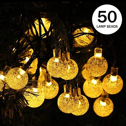 30 DEL Solaire String Lights Ampoules solaires Jardin Imperméable décoratif Globe Light